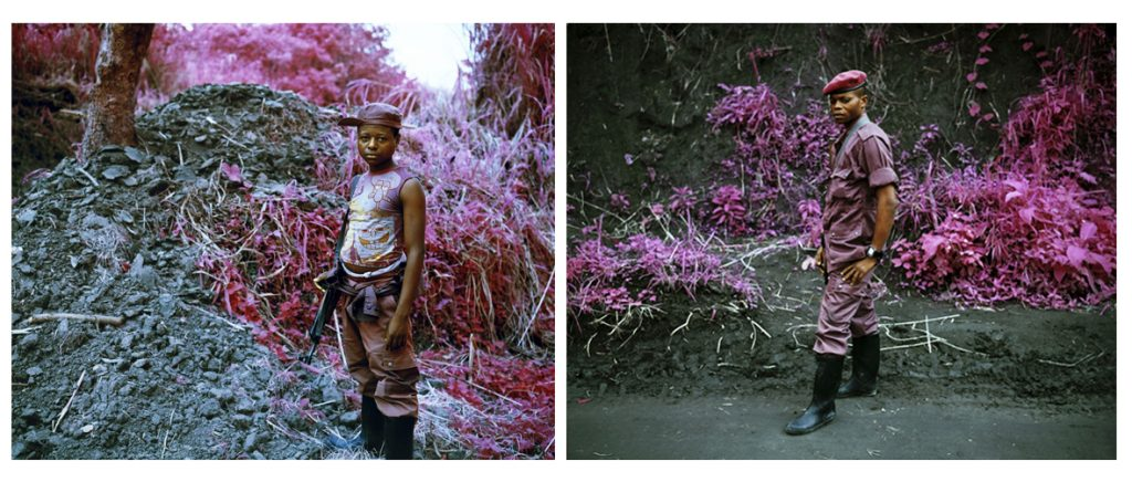 1. Richard Mosse, Growing Up In Public, 2011. 2. Richard Mosse, General Février, 2010