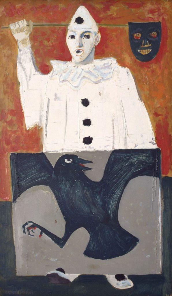 Gerard Dillon, Clown with Bird Canvas, 1960