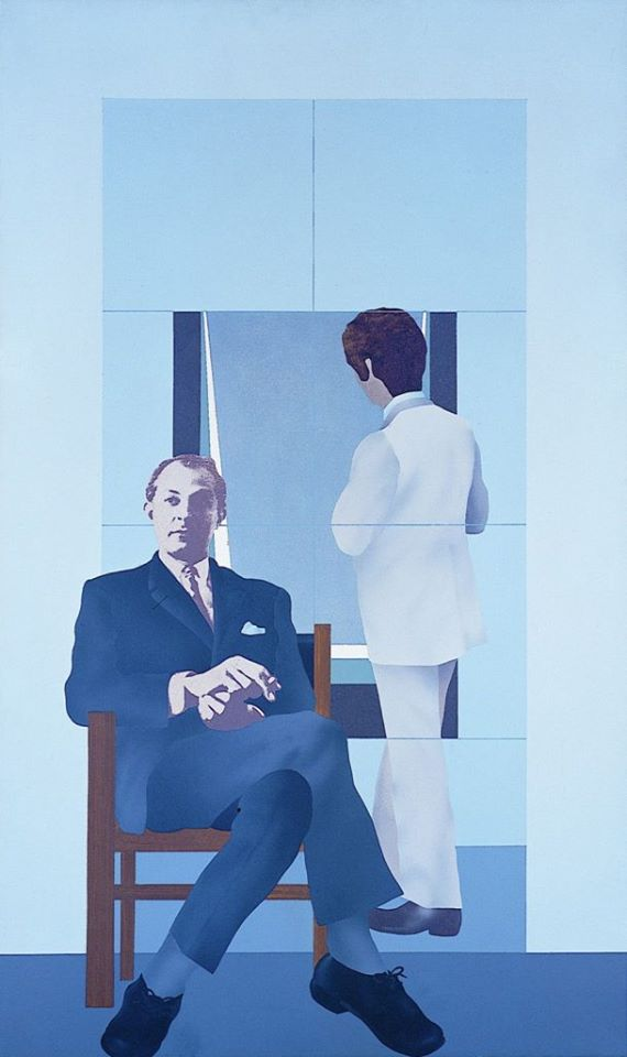 Robert Ballagh, Portrait of David Hendriks, 1972
