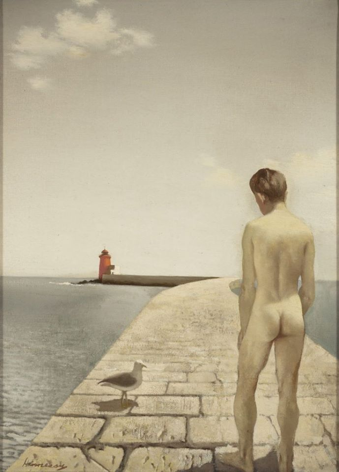 Patrick Hennessy, Boy and Seagull, 1949