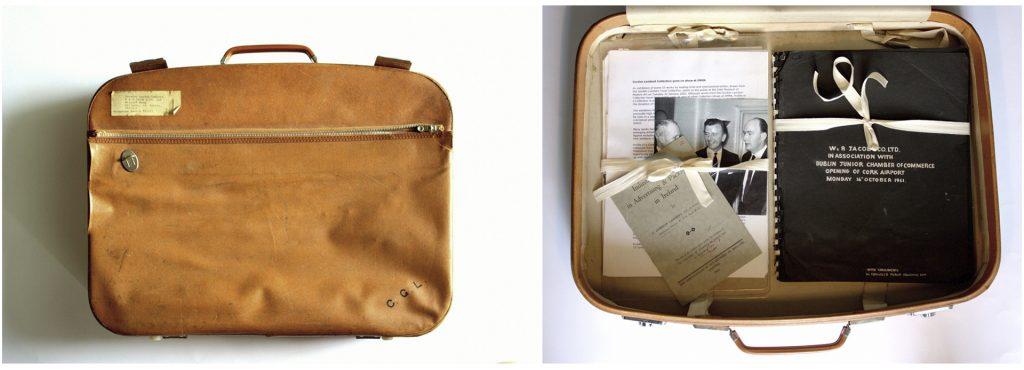 Gordon Lambert's suitcase containing archive material, Photo: Chris Jones.