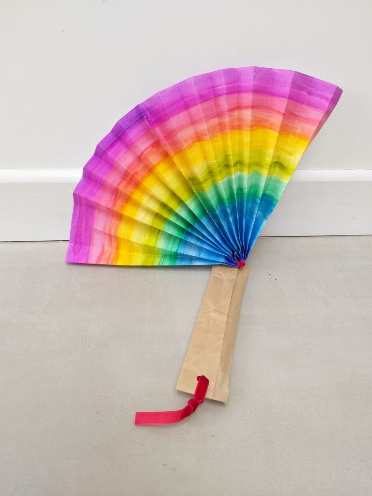 Explorer at Home: Rainbow Hand Fan