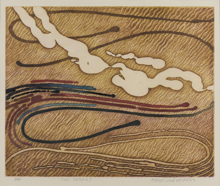 Mary Farl Powers, The Desert, 1977, Colour etching on paper, 35 x 43 cm, Collection Irish Museum of Modern Art, Donation, Powers Family, 2009