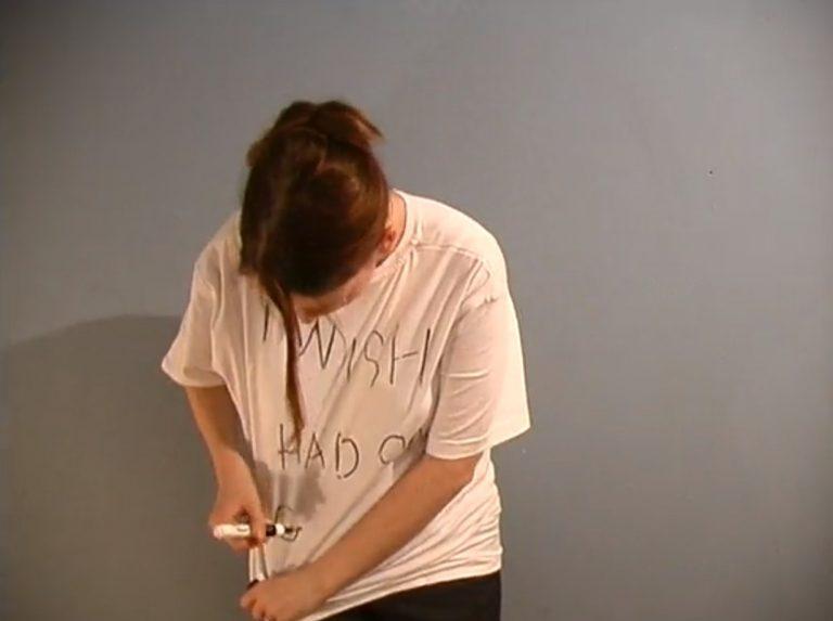 Isabel Nolan, Sloganeering 1-4, 2001, Video, Duration: 4 min, Collection Irish Museum of Modern Art, Purchase, 2002