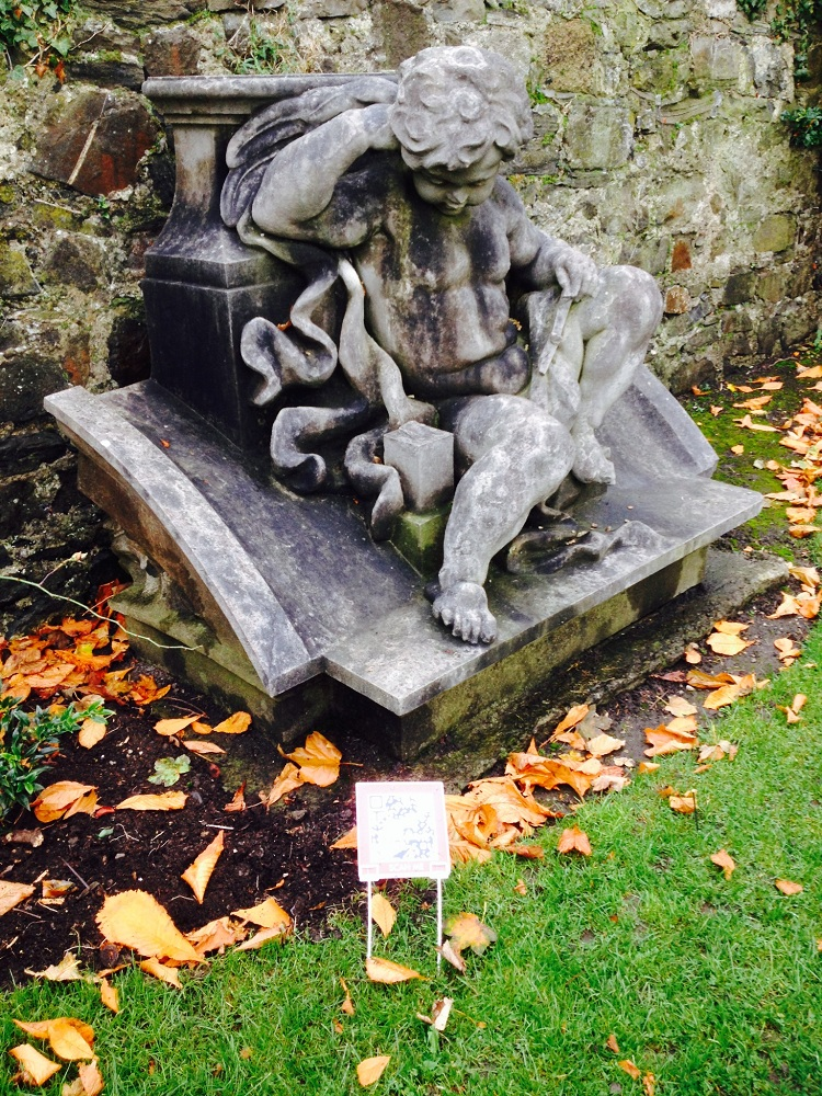 A fragment from Queen Victoria's plinth in the formal gardens in the Royal Hospital Kilmainham.
