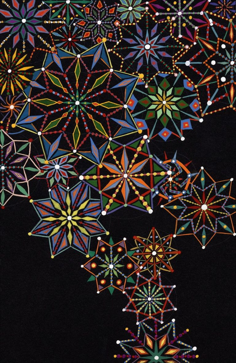 Fred Tomaselli, Untitled, 2004, Digital ink jet print, with Epson pigment-based inks, on 100% rag acid-free paper, Sheet: 28x21.8 cm, Collection Irish Museum of Modern Art, IMMA Editions, Donated by the artist, 2005