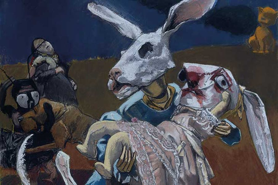 Paula Rego, War, 2003, Pastel and paper mounted on aluminium, 160 x 120 cm. © Paula Rego Tate: Presented by the artist (Building the Tate Collection) 2005. Photo: ©Tate, London 2019.