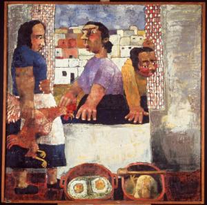 Paula Rego, The Family, 1988 Acrylic on Paper 213.4 x 213.4 cm © Paula Rego
