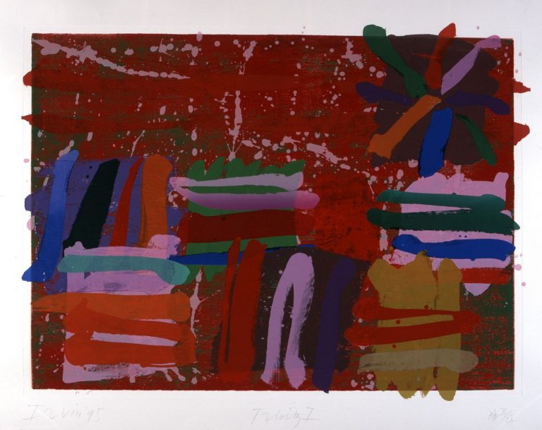Albert Irvin, Trinity I, 1995, Screen and block print, 117 x 149 cm, Collection Irish Museum of Modern Art, Donated by the artist, 1996