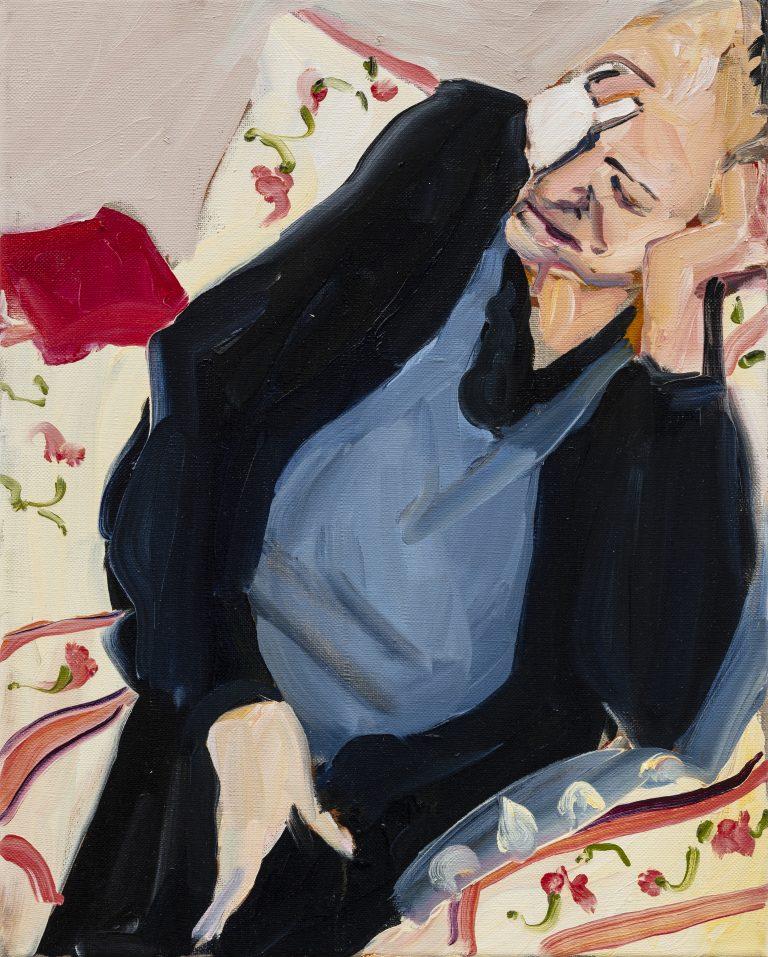 Chantal Joffe, Cataract, 2019 Oil on canvas 51 x 41 cm, © Courtesy the artist and Victoria Miro.