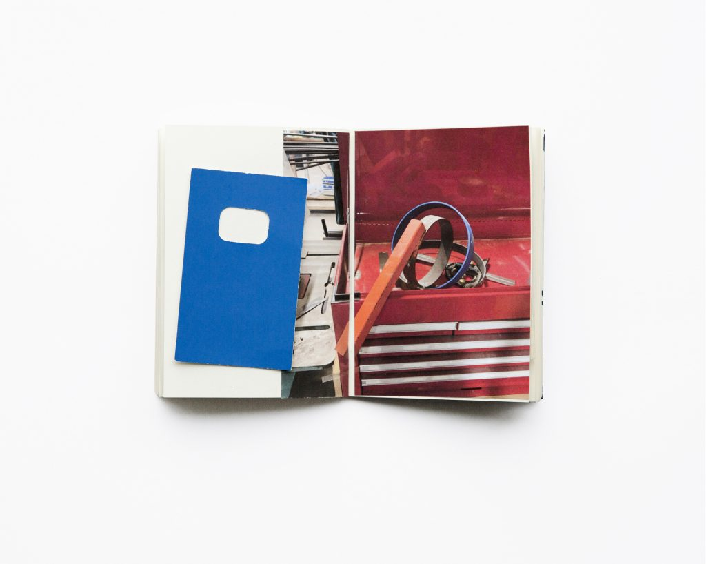 Jan McCullough, Scrapbook for Tricks of the Trade, Biro blue, voltage red, 2020.