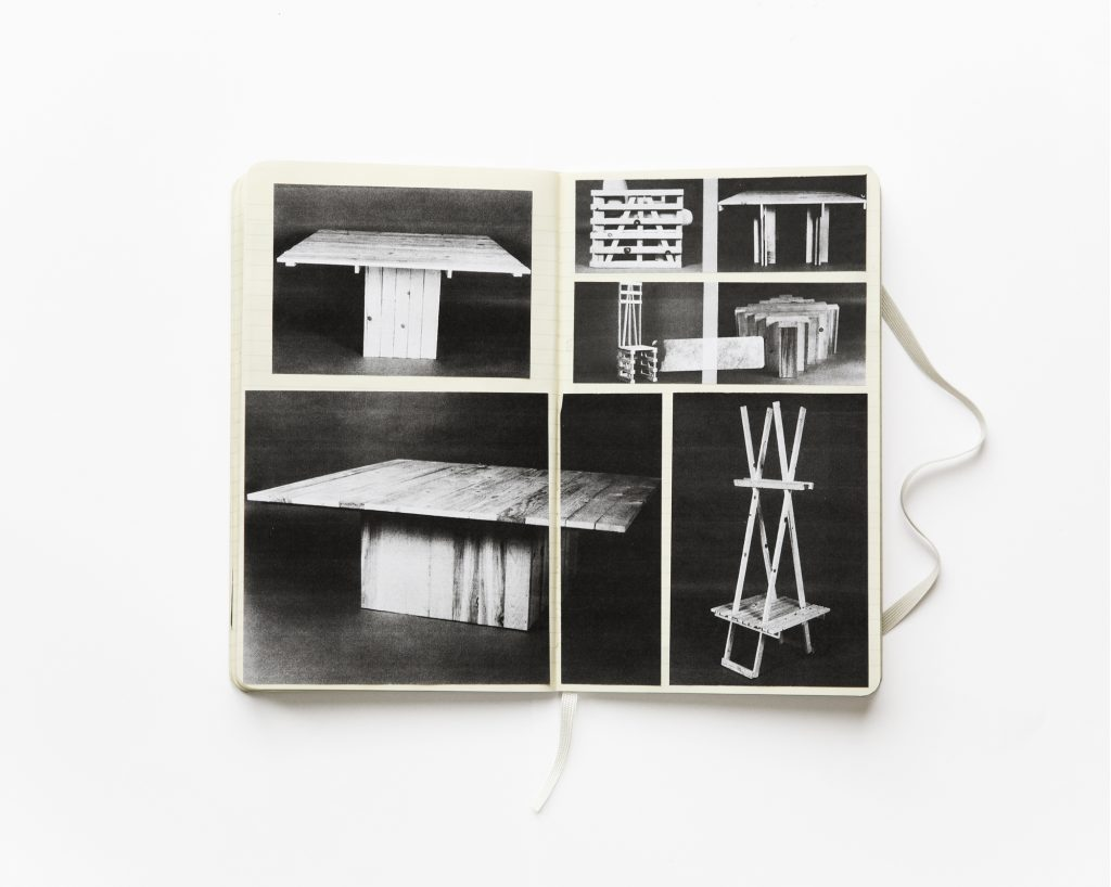 Jan McCullough, Scrapbook, 2018, Photographs from 'Instant Furniture' by Peter S Stamberg and the Globus Brothers, 1976.