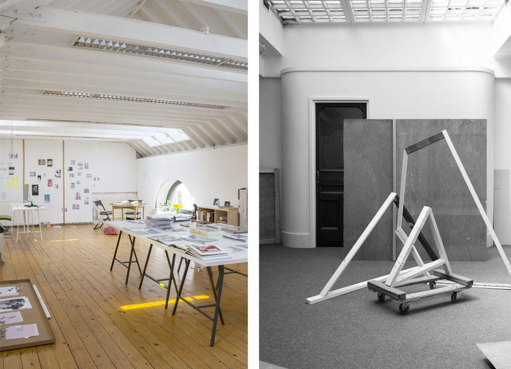 1. Jan McCullough Studio at IMMA, 2020. 2. Jan McCullough, Maquette, 2020, PS2, Belfast.