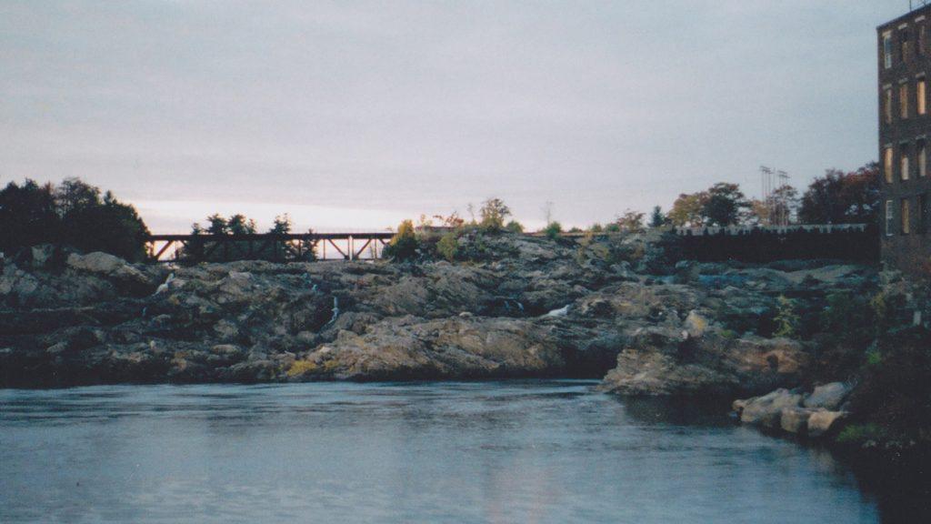 Bridge with Mill. SLR photograph by Beth O'Halloran (2006)