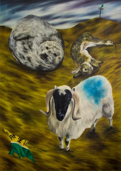 The Sheep that are Dyed Blue Belong to Hammy Sloan,