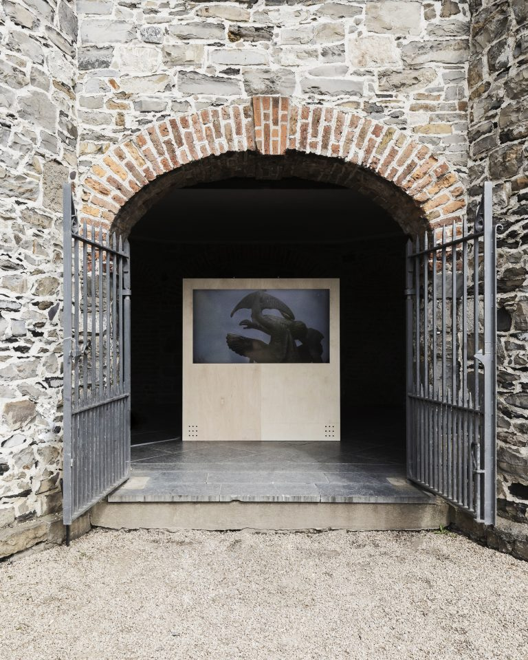 Installation view, Poetry Speaks, 10 May – 22 Aug 2021, IMMA. Dublin. An exhibition by the Adrian Brinkerhoff Poetry Foundation and Poetry Ireland. Filmed and Photographed by Matthew Thompson.